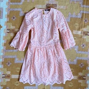 Dresses & Skirts - Light Pink Eyelet Lace Babydoll Dress Small